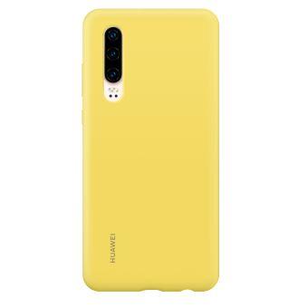 Coque rigide en silicone Huawei Jaune pour P30