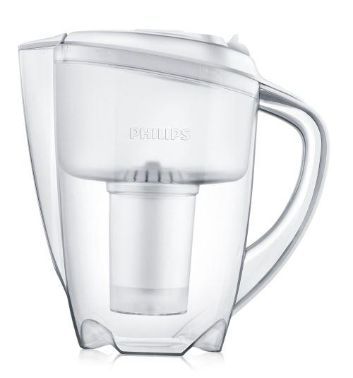 Carafe filtrante Philips 1,5 L fournie avec 1 filtre pour 200 litres d'eau filtrée