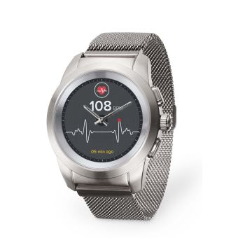 MyKronoz ZeTime Elite Verbonden Horloge Zilver met Milanese Armband