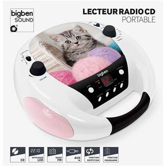 Lecteur radio CD portable BigBen 230 V Chat