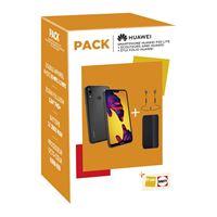 Pack Smartphone Huawei P20 Lite Double Nano SIM 64 Go Noir + Etui Folio + Ecouteurs AM61