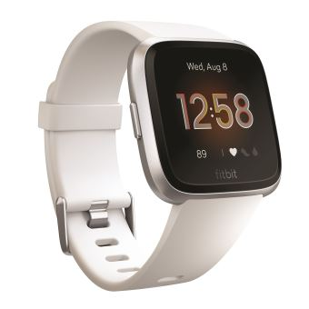 Fitbit Versa Lite Smart horloge zilver en wit - Preorder