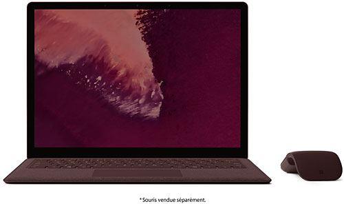 PC Ultra-Portable Microsoft Surface Laptop 2 13.5 Tactile Intel Core i5 8 Go RAM 256 Go SSD Bordeaux