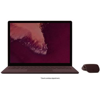 "PC Ultra-Portable Microsoft Surface Laptop 2 13.5"" Tactile Intel Core i5 8 Go RAM 256 Go SSD Bordeaux"