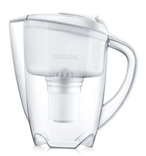 Carafe filtrante Philips 1,5 L avec indicateur digital de changement de filtre fournie avec 1 cartouche pour 200 litres d'eau filtrée
