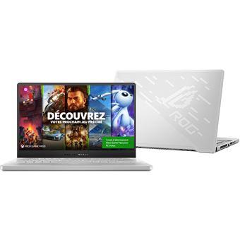 "PC Ultra-Portable Asus ROG Zephyrus G14 GA401IU-110T 14"" AMD Ryzen 7-4800Hs 16 Go RAM 512 Go SSD Version White Moon AniMe Matrix Exclusivité"
