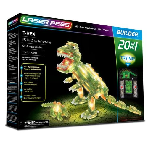 Jeu de construction Lase Pegs 20 in 1 T-Rex