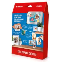 Kit 5 papiers créatifs Canon pour imprimante