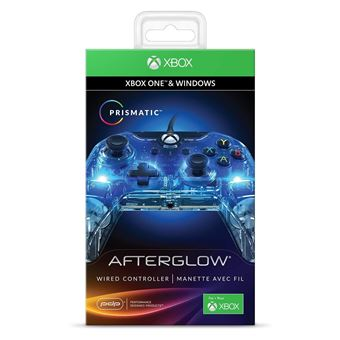 Mannette Xbox One filaire PDP Afterglow Prismatic
