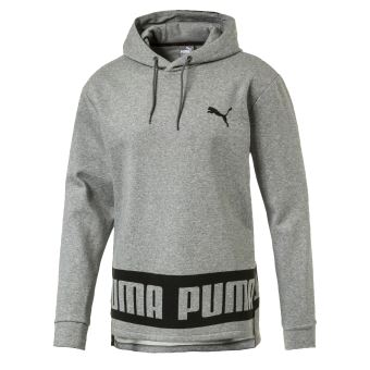 Sweat à capuche Puma Rebel Fleece Gris Taille L - Sweat-shirt de ... f0c3eae741f
