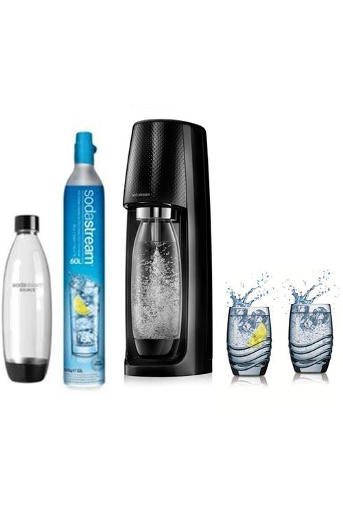 Pack machine à soda Sodastream Spirit Noire + 2 verres Sodastream 330ml offerts