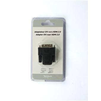 Adaptateur Temium DVI Mâle vers HDMI Femelle