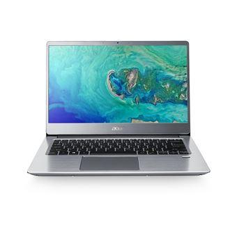 """Acer Swift 3 SF314-56-74U7 - Core i7 8565U / 1.8 GHz - Win 10 Home 64 bits - 8 GB RAM - 256 GB SSD - 14"""" IPS 1920 x 1080 (Full HD) - UHD Graphics 620 - Wi-Fi, Bluetooth - glimmend silver - tsb Frans"""