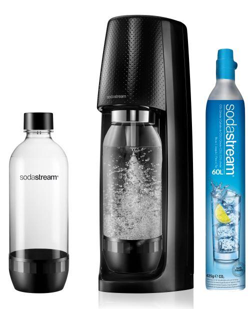 Pack Machine à soda Sodastream Spirit Noir avec 2 bouteilles lave-vaisselle