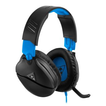 Micro-casque Gaming filaire Turtle Beach Recon 70 Noir et Bleu pour PS4 Pro et PS4