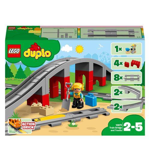 LEGO® DUPLO® Trains 10872 Les rails et le pont du train