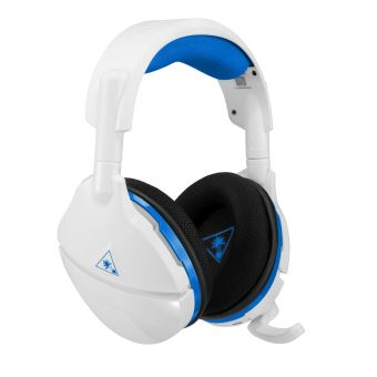 Micro Casque Gaming Sans Fil Turtle Beach Stealth 600 Blanc Pour Ps4