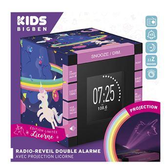 Radio réveil double alarme avec projecteur BigBen 230 V Licorne