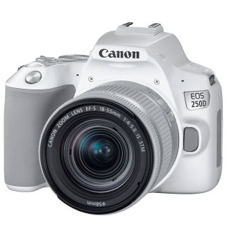 Canon EOS 250D Reflex Behuizing Wit + EF-S 18-55mm f/4-5.6 IS STM Lens