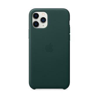 Coque en cuir pour iPhone 11 Pro Vert foret