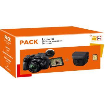 Pack Fnac Bridge numérique Panasonic DMC-FZ330 Noir + Housse + Carte SDHC 16 Go