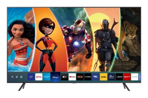 "Plus de détails TV Samsung 43TU7175 4K Crystal UHD Smart TV 43"" Gris Carbone 2020"