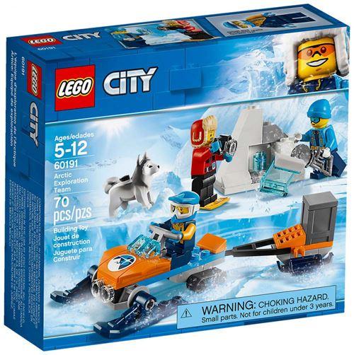 De nombreuses découvertes passionnantes se préparent avec Les explorateurs de l'Arctique LEGO® City 60191 ! Cet ensemble sur le thème de l'expédition arctique LEGO City comprend une motoneige avec une attache-remorque, une remorque, une boîte de transport