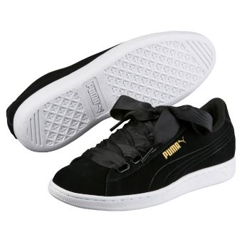 Femme Puma Vikky Taille 41 Chaussures Noires Ribbon DYEHW2I9