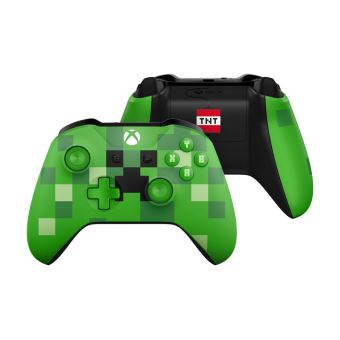 Manette Xbox One Sans Fil Edition Limitée Minecraft Creeper