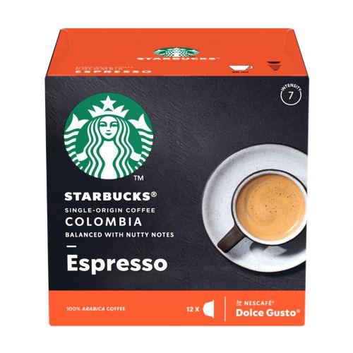 Pack de 12 capsules Dolce Gusto Starbucks Nescafé Espresso Colombia