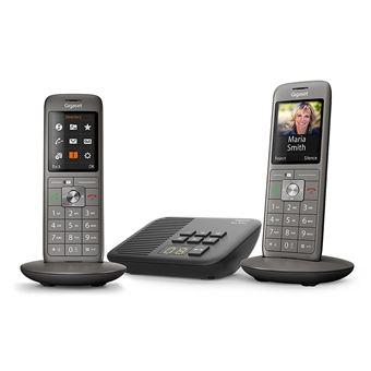 5 sur t l phone fixe sans fil gigaset cl660a duo anthracite t l phone sans fil achat - Telephone fixe sans fil longue portee ...