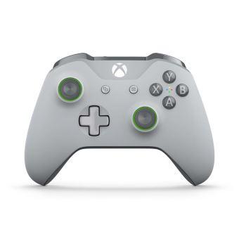 Manette Xbox One Sans Fil Grise et Verte