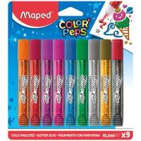 Colle Pailletée Maped Color'Peps 9 x 10,5 ml