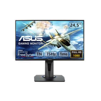 "ASUS VG255H - LED-monitor - 24.5"" - 1920 x 1080 Full HD (1080p) - TN - 250 cd/m² - 1 ms - 2xHDMI, VGA - luidsprekers - zwart"