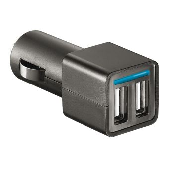 Chargeur allume-cigare Double USB 2.1A Temium