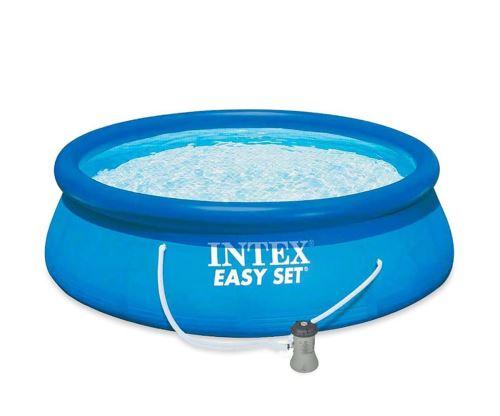 Piscine Gonflable Intex - Ronde - Easy set - 3.96 x 0.84 m - Épurateur + Cartouche inclus - Bleu