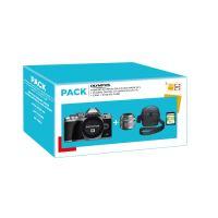 Pack Fnac Hybride Olympus OM-D E-M10 MKIII S + Objectif Olympus 14-42mm f/3,5-5,6 II R + Fourre-tout + Carte SD 16Go