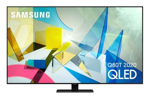 """TV Samsung QE49Q80T 4K UHD QLED 49"""""""""""""""" Argent Carbon 2020 - Téléviseur LCD 44"""" à 55""""."""