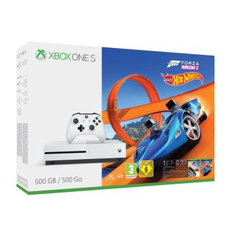 Pack Console Microsoft Xbox One S 500 Go + Forza Horizon 3 + Hot Wheels