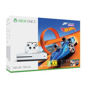 Pack Console Microsoft Xbox One S 500 Go + Forza Horizon 3 + Hot Wheels