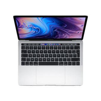"Apple MacBook Pro with Touch Bar - Core i5 2.4 GHz - Apple macOS Mojave 10.14 - 8 GB RAM - 512 GB SSD - 13.3"" IPS 2560 x 1600 (WQXGA) - Iris Plus Graphics 655 - Wi-Fi, Bluetooth - zilver - tsb Frans AZERTY"