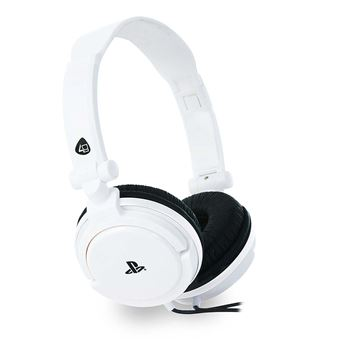 casque stereo gaming headset blanc pour ps4 et pc