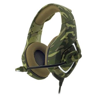 Micro-casque Gaming Spirit Of Gamer Elite-H50 Army pour PC, PS4, Xbox One et Nintendo Switch