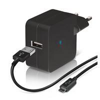 Chargeur secteur USB Temium + Câble Micro USB Noir
