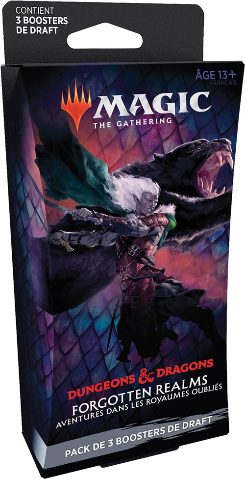 Pack de 3 boosters Draft Magic The Gathering Forgotten Realms