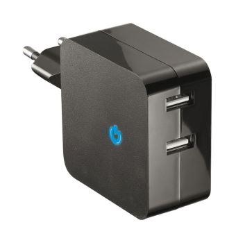 Chargeur secteur Double USB 2.1A Temium