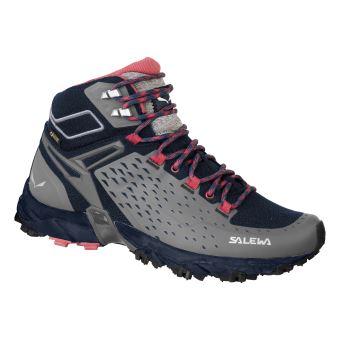 Chaussures Noires De Femme Ultra Salewa Mid Tex Trail Alpenrose Gore HHrq7P