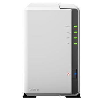 Serveur NAS Synology DiskStation DS218j 2 baies 512 Mo Blanc
