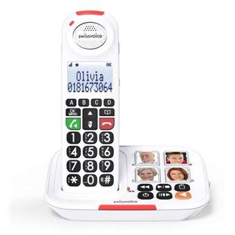 5 sur t l phone fixe sans fil swissvoice xtra 2155 blanc t l phone sans fil achat prix - Telephone fixe sans fil longue portee ...