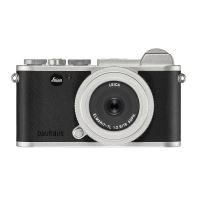 Hybride Leica CL Silver Limited Edition 100 jaar Bauhaus + lens Elmarit TL f / 2.8 18 mm Asph. + Leren riem